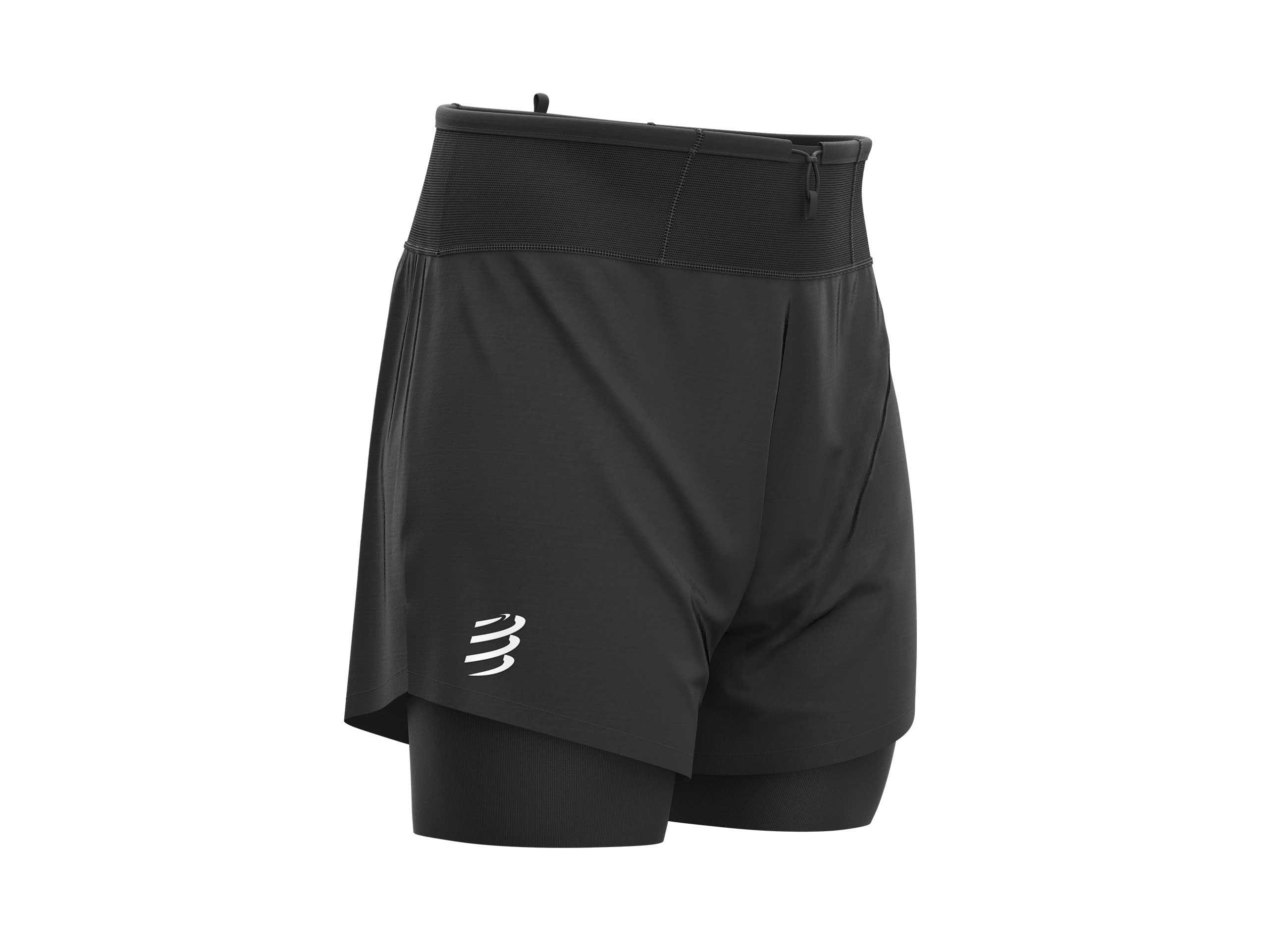 Pantalón corto de trail 2 en 1 negro