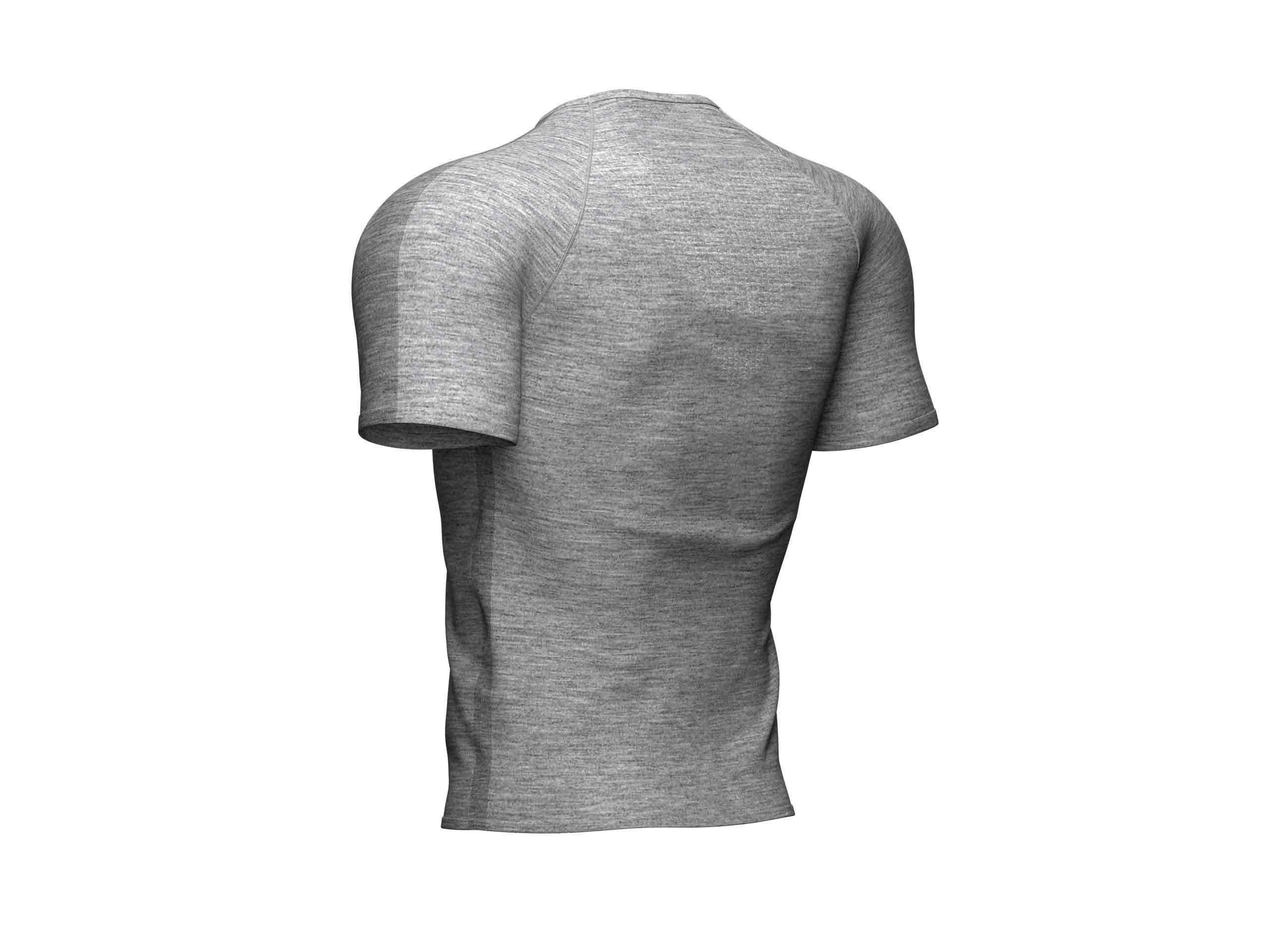 Camiseta de entrenamiento MC gris jaspeado
