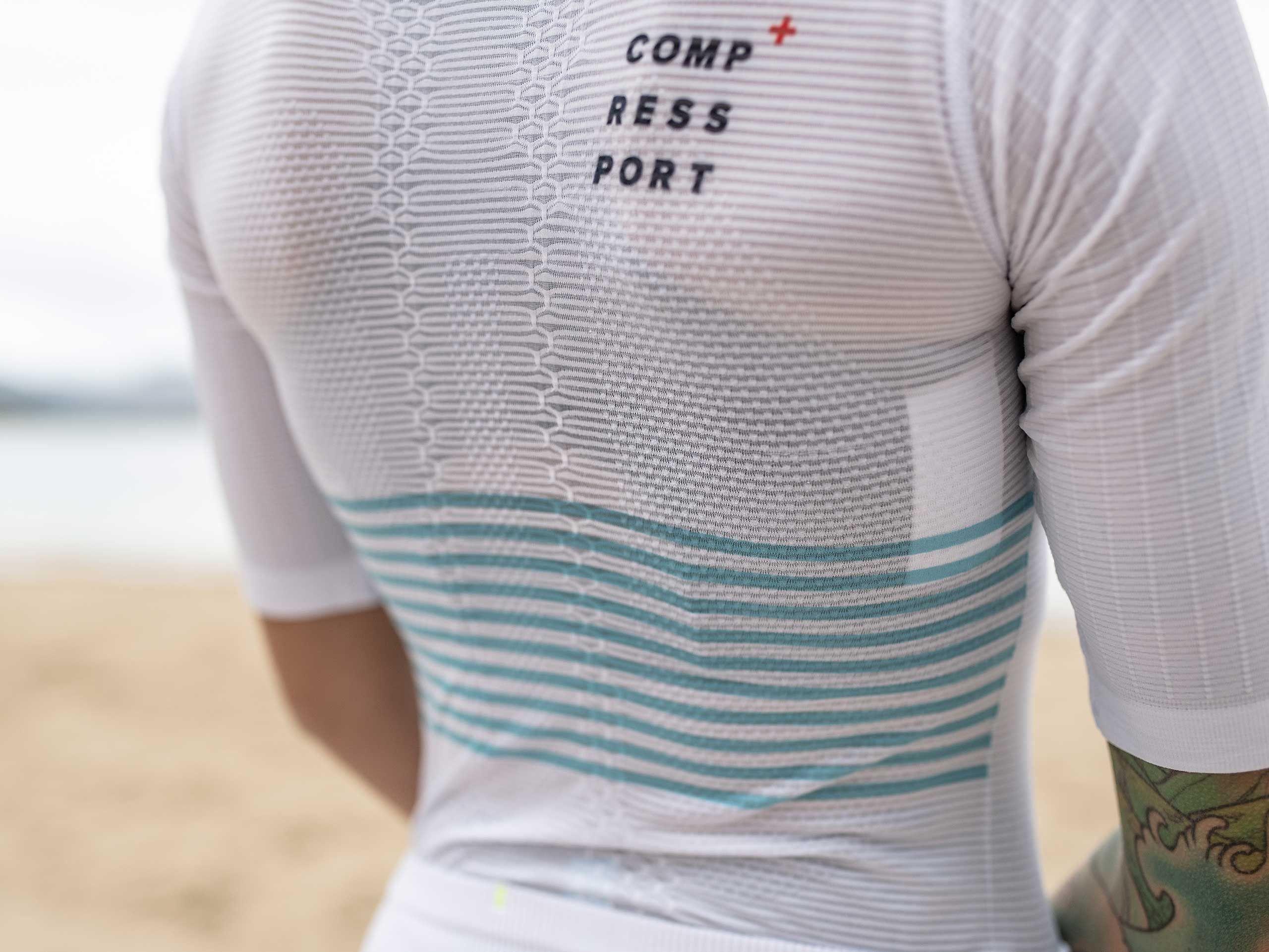 Camiseta Tri Postural MC M blanca