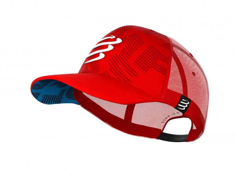 Gorra con visera plana roja