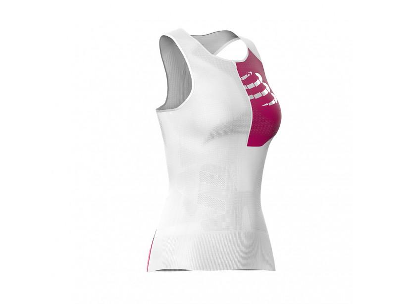 Camiseta sin mangas postural de triatlón M blanca