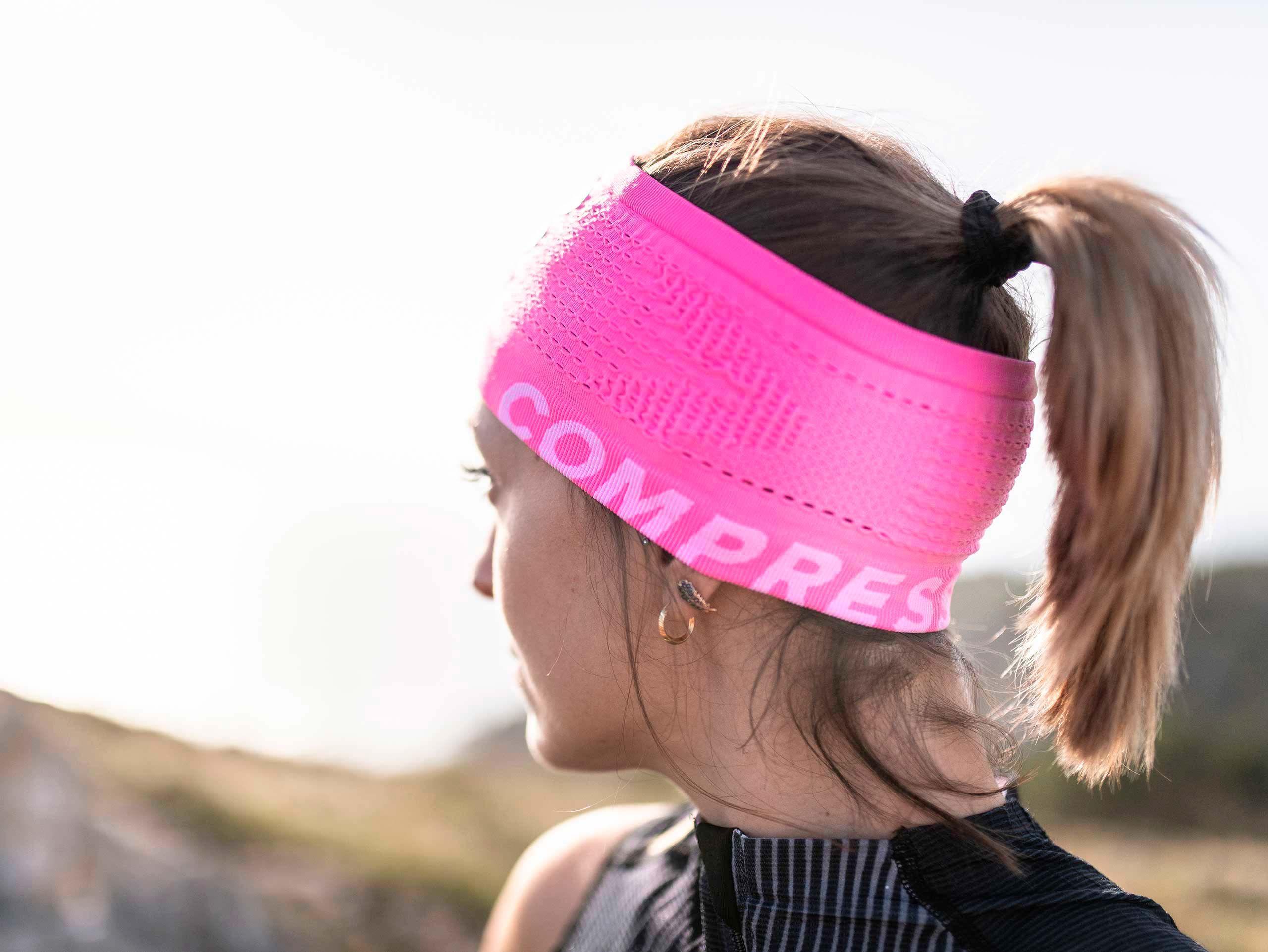 Cinta para el pelo On/Off rosa