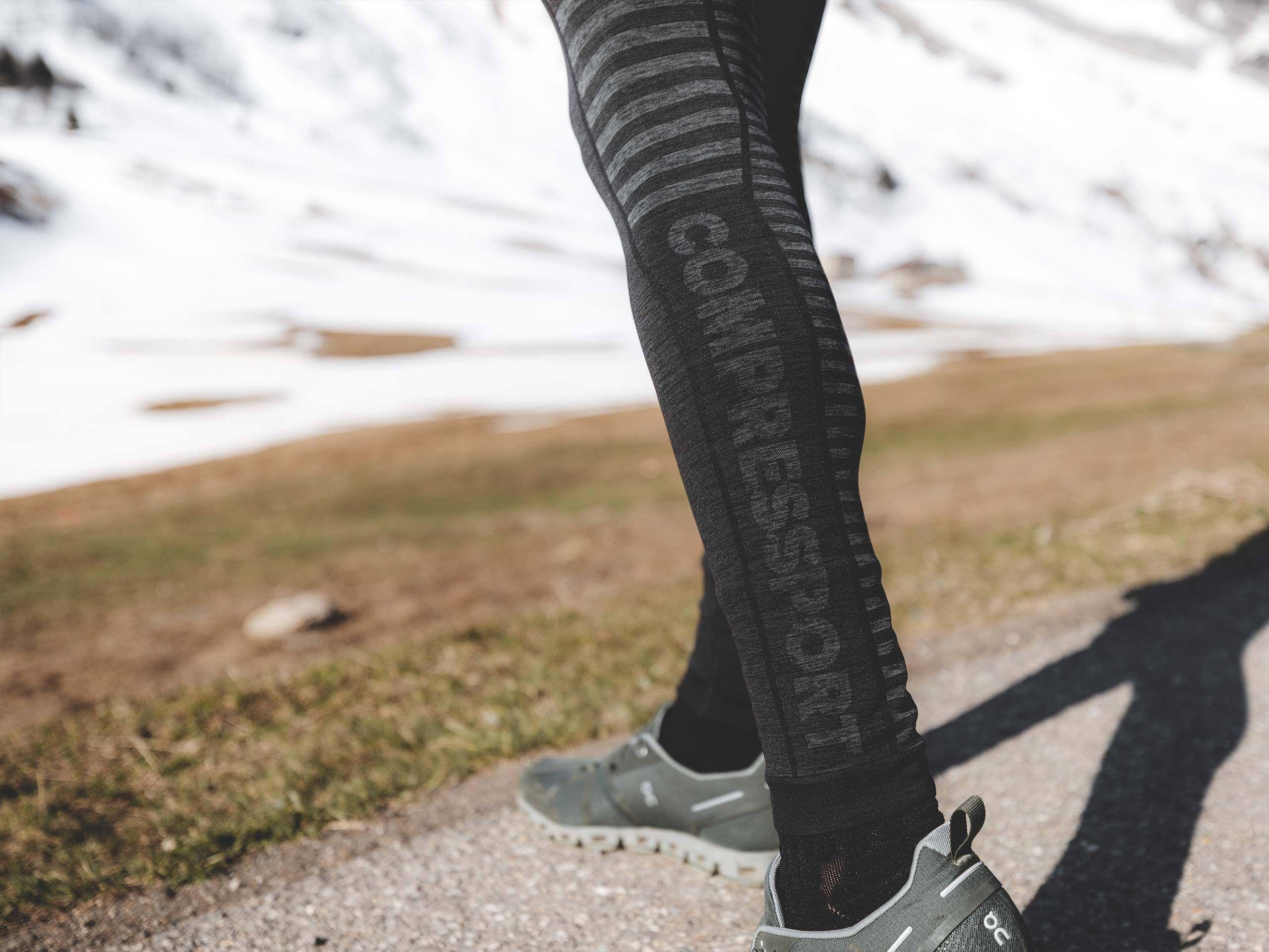 Winter Run Legging M BLACK