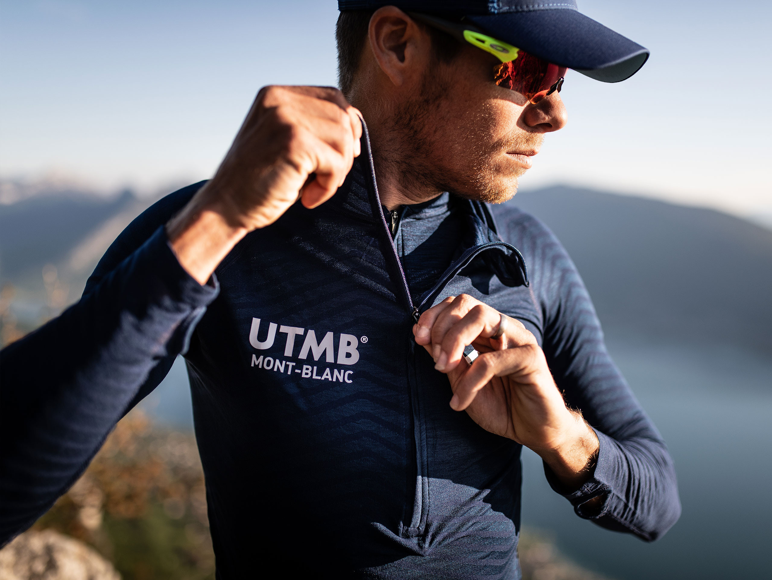 Ultra-Trail 180g Racing Hoodie - UTMB 2019 BLUE