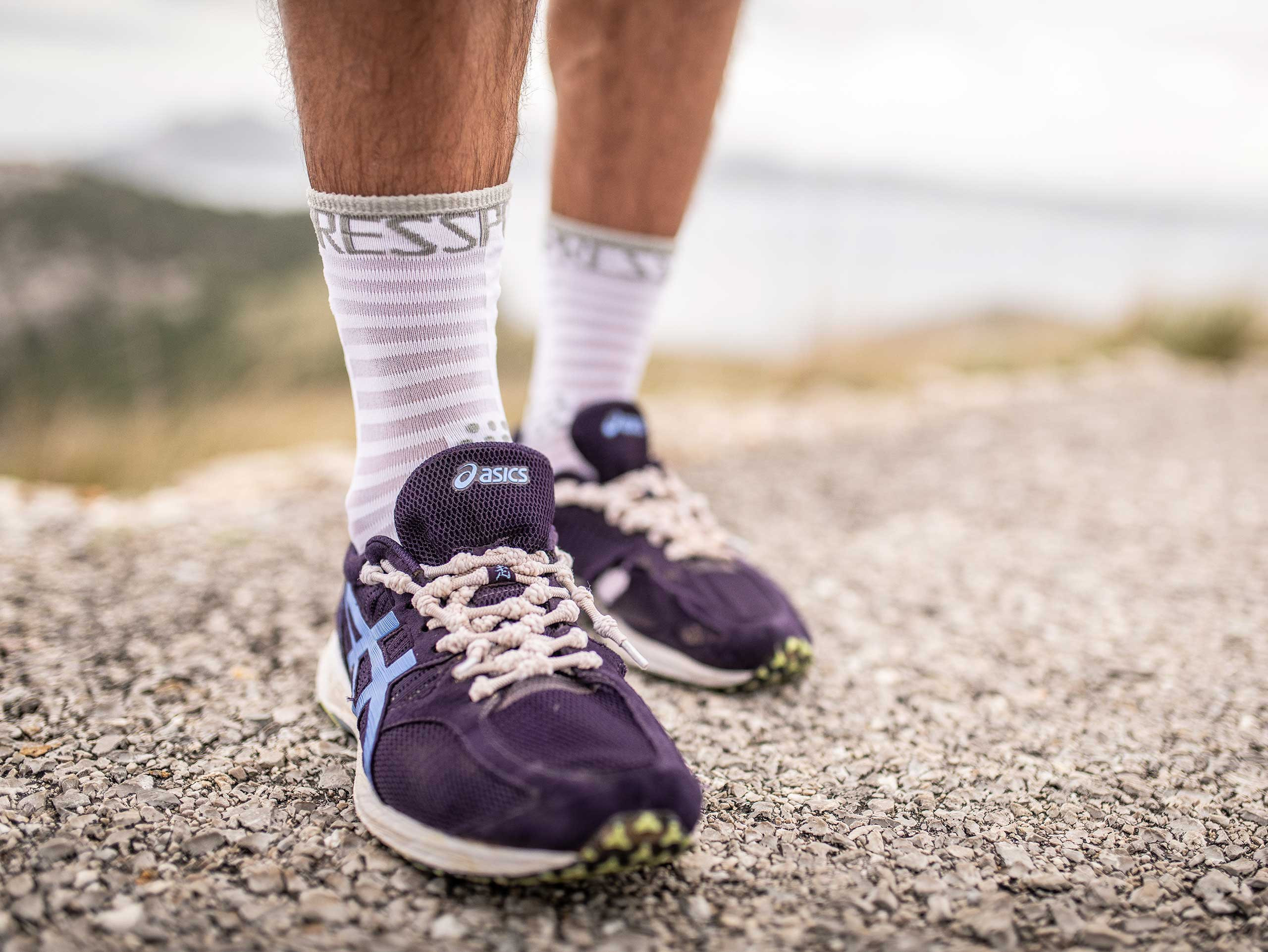 Pro Racing Socks v3.0 Ultralight Run High blanc