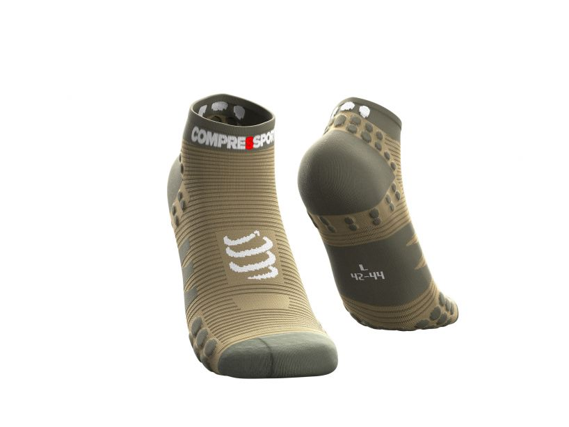 Pro racing socks v3.0 run low vert de gris