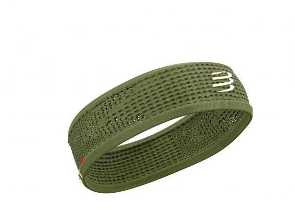 Thin headband on off vert de gris