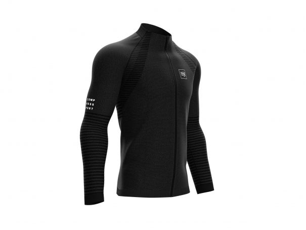 Seamless Zip Sweatshirt noir