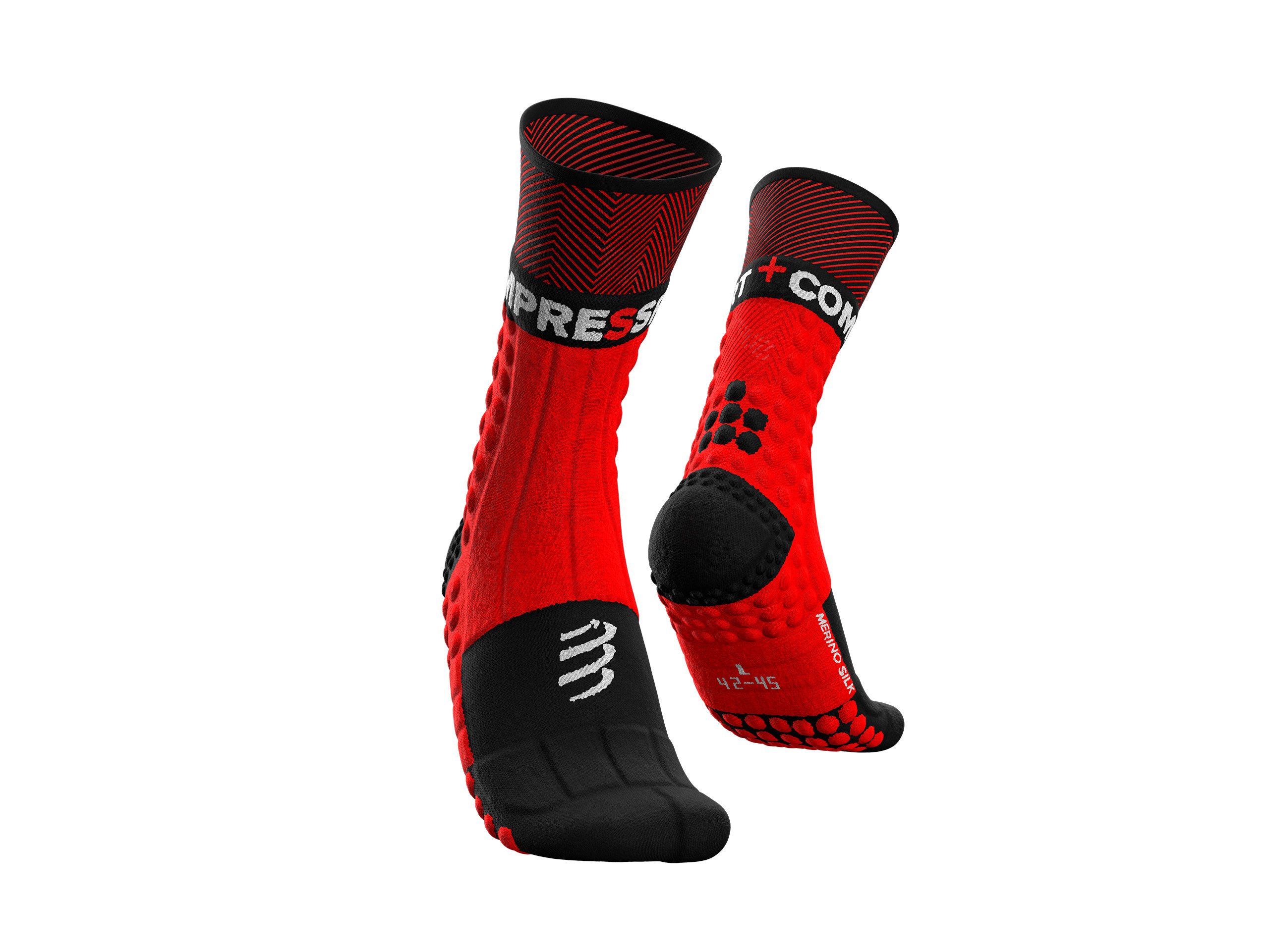 Pro racing socks winter trail rouge noir