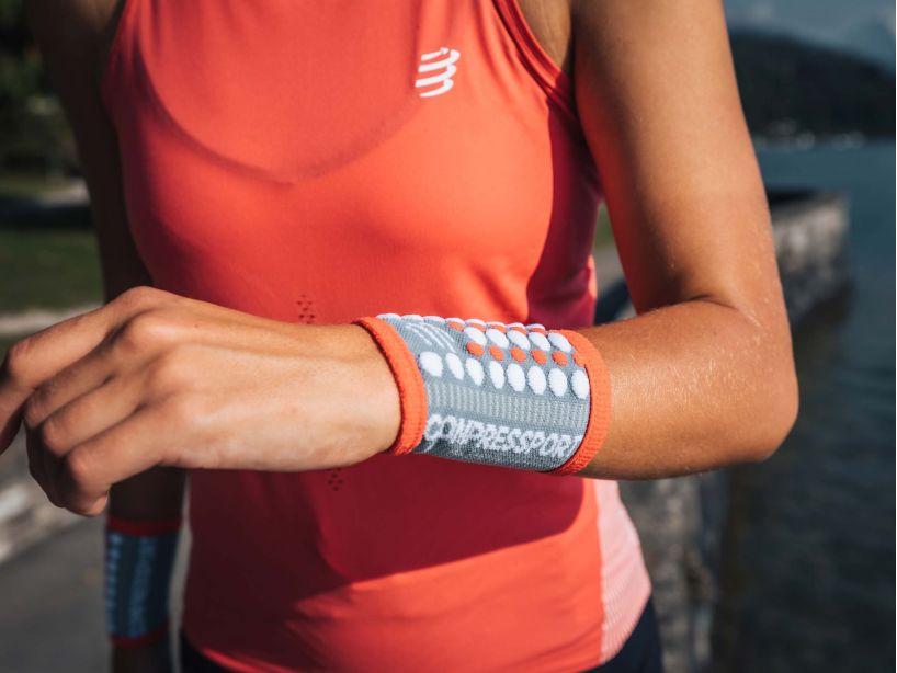 Sweatbands 3D.Dots GREY/CORAL