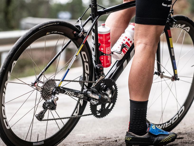Borraccia da bicicletta rossa/bianca
