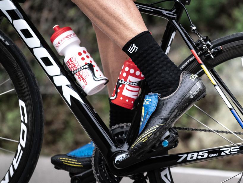 Borraccia da bicicletta bianca/rossa