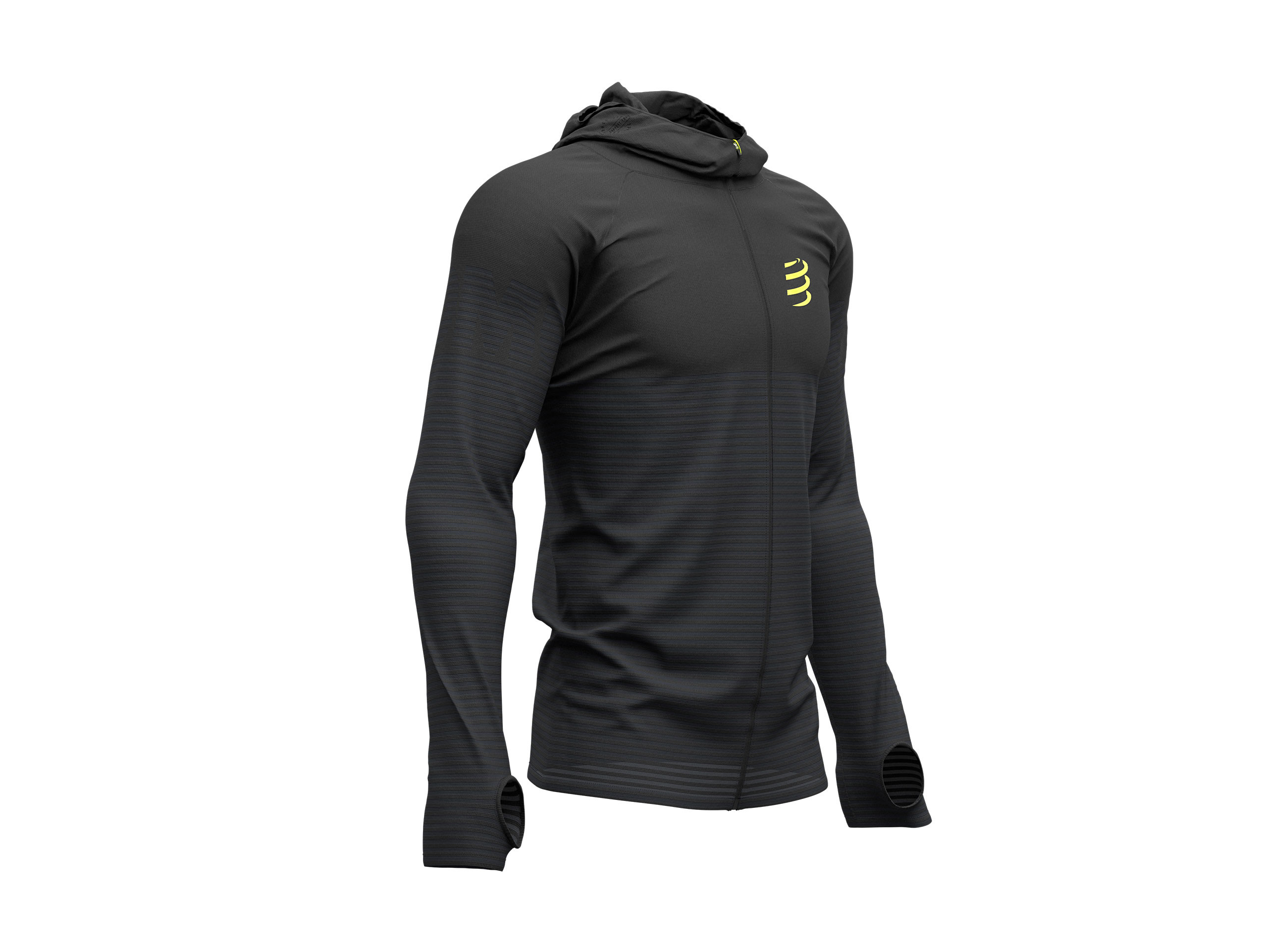 3D Thermo Seamless Hoodie Zip - Black Edition 2019 BLACK