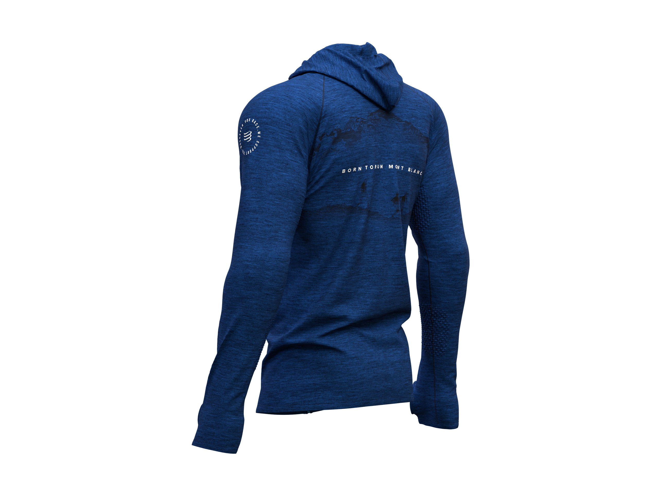 3D Thermo Seamless Zip Hoodie - Mont Blanc 2019