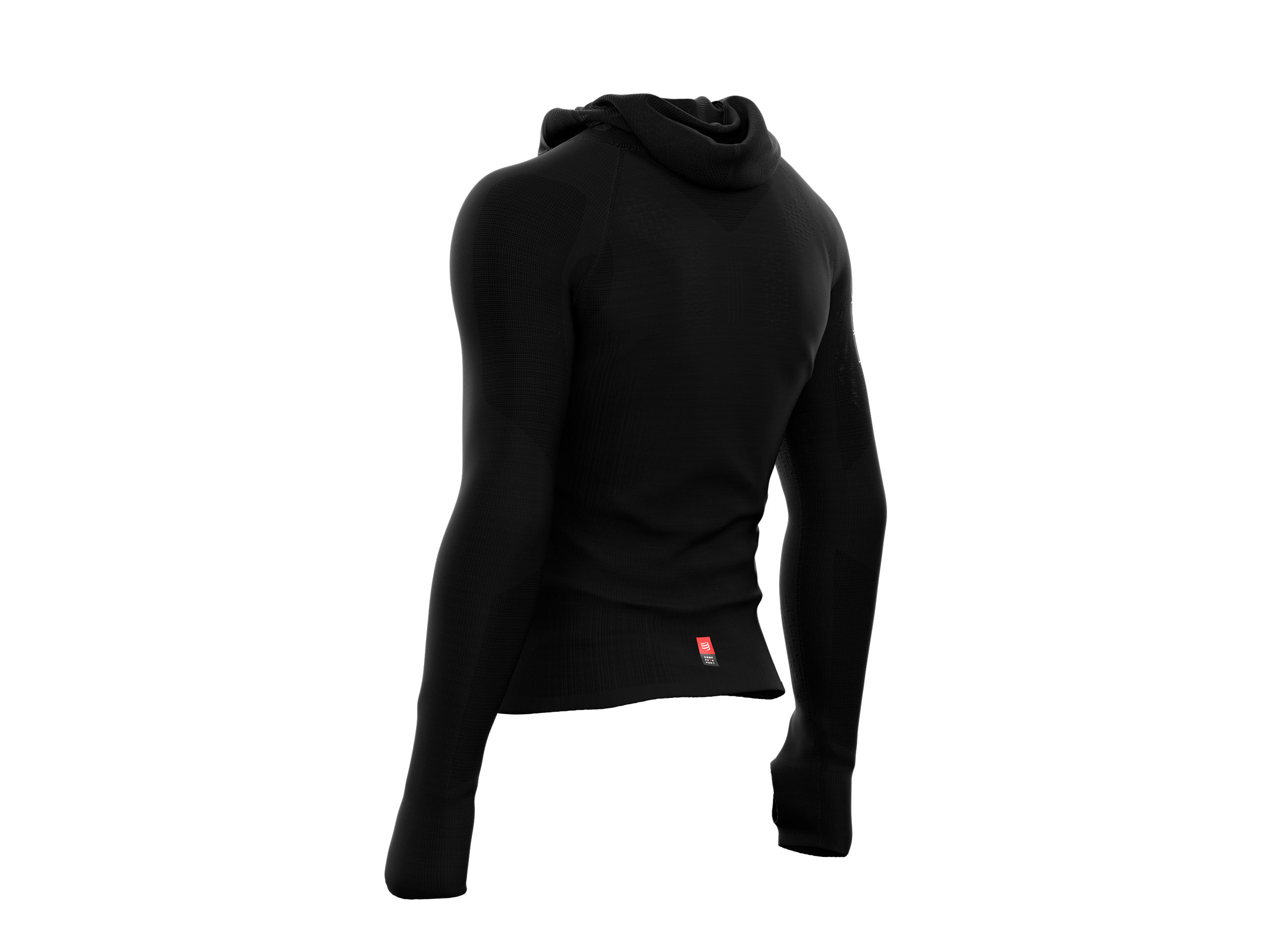 3D Thermo UltraLight Racing Hoodie schwarz