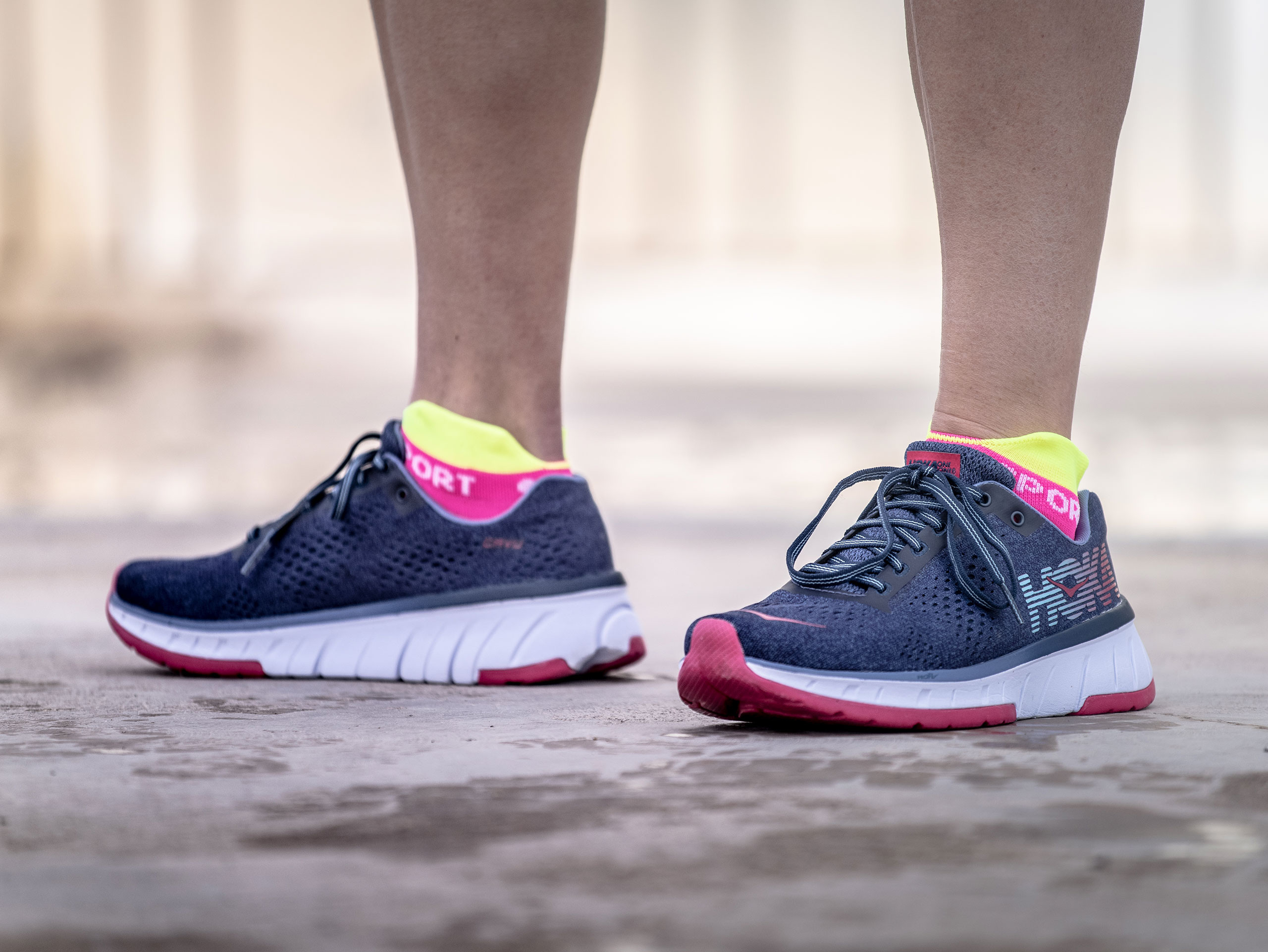 Pro Racing Socks v3.0 Run Ultralight Run Low fluo pink