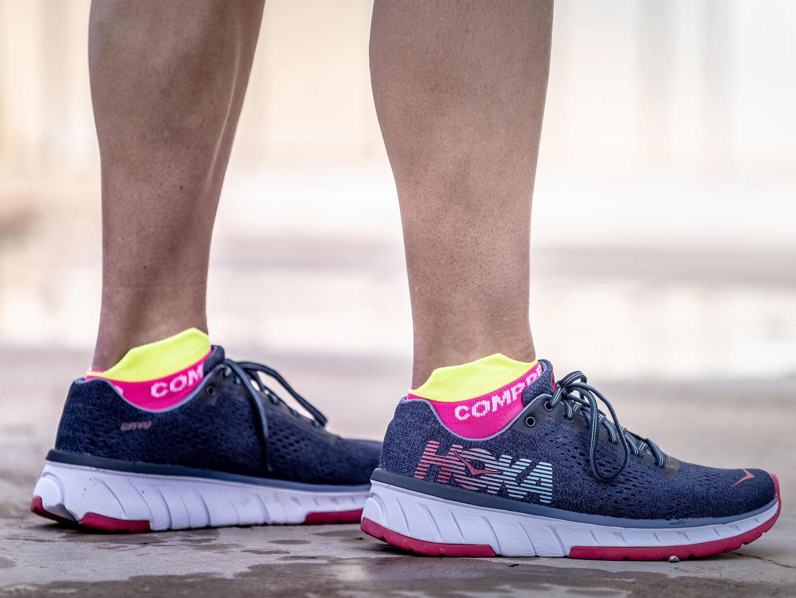 Calcetines deportivos pro v3.0 Run Ultralight Run Low rosa flúor