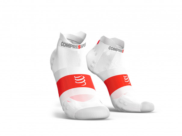 Calcetines deportivos pro v3.0 Run Ultralight Run Low blancos
