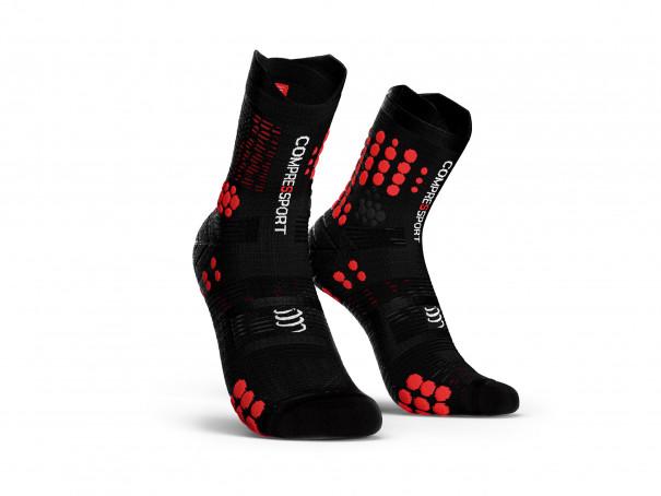 Calzini da gara professionali v3.0 Trail neri/rossi