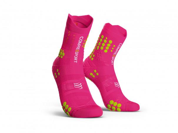 Calcetines deportivos pro v3.0 rosa flúor