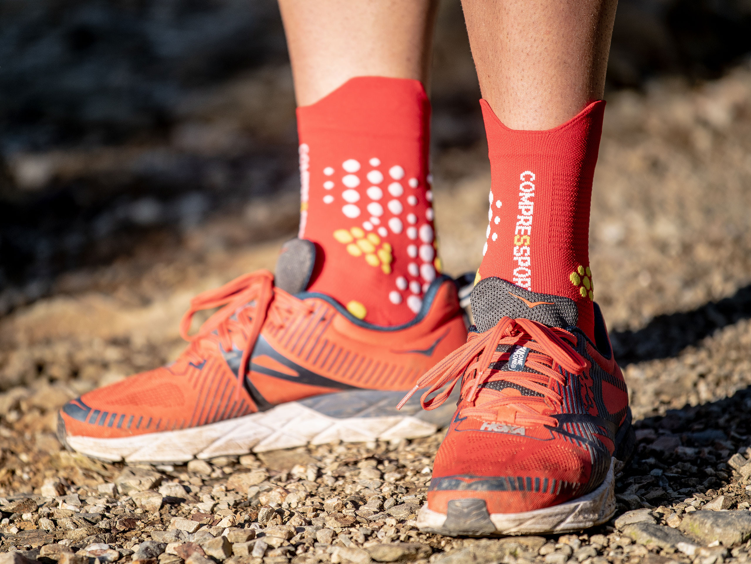 Pro Racing Socks v3.0 Trail rot/weiß