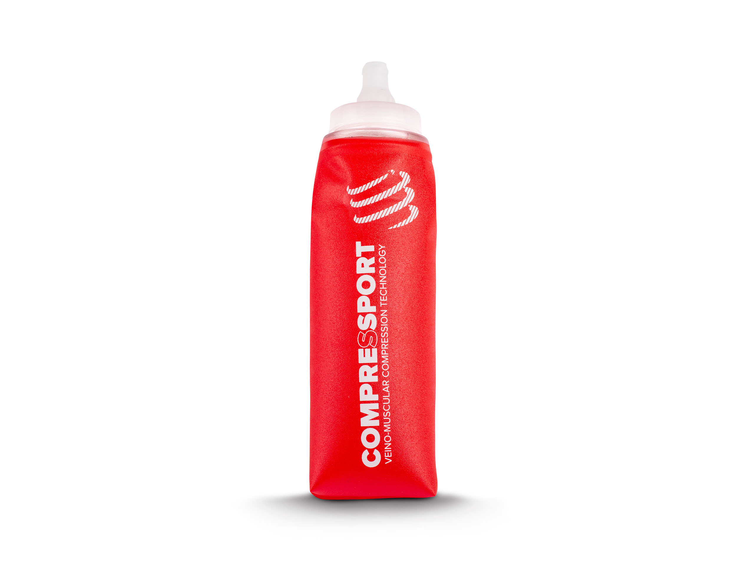 Botella ErgoFlask 600 ml válvula + tubo largo roja