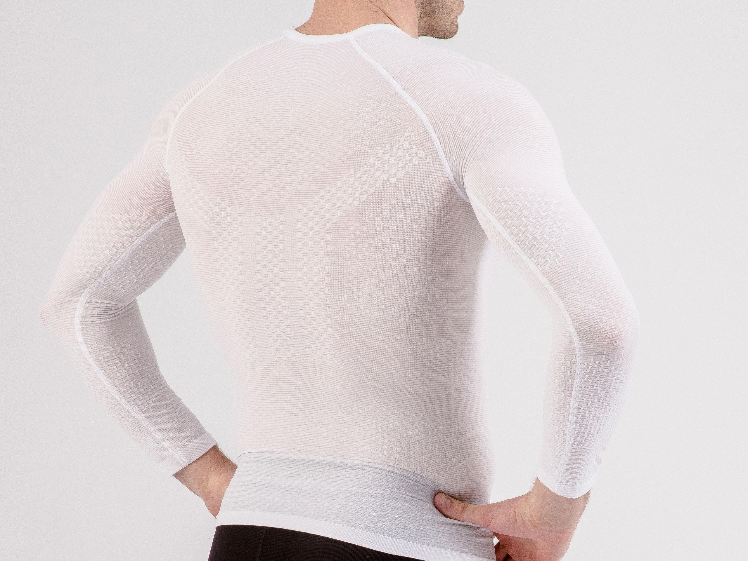 T-shirt termica ultra-leggera 3D LS bianca