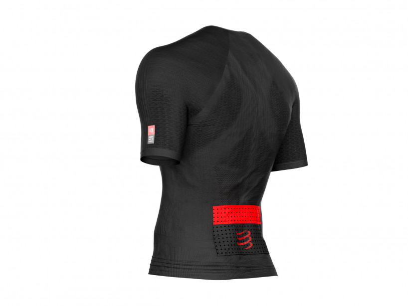 Top posturale da trail running SS nero