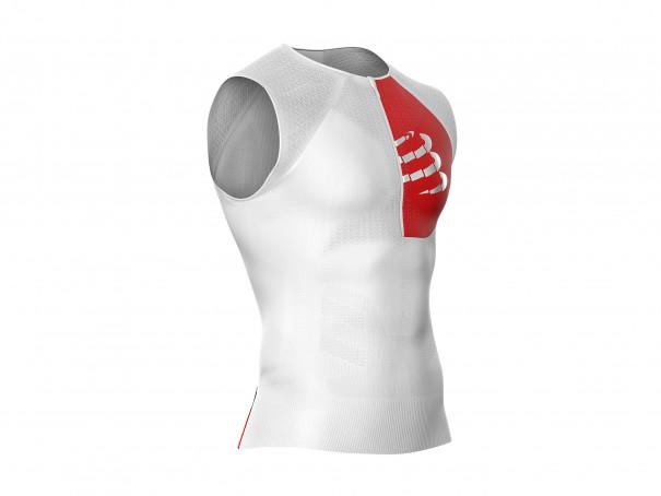 Canotta posturale da triathlon bianca