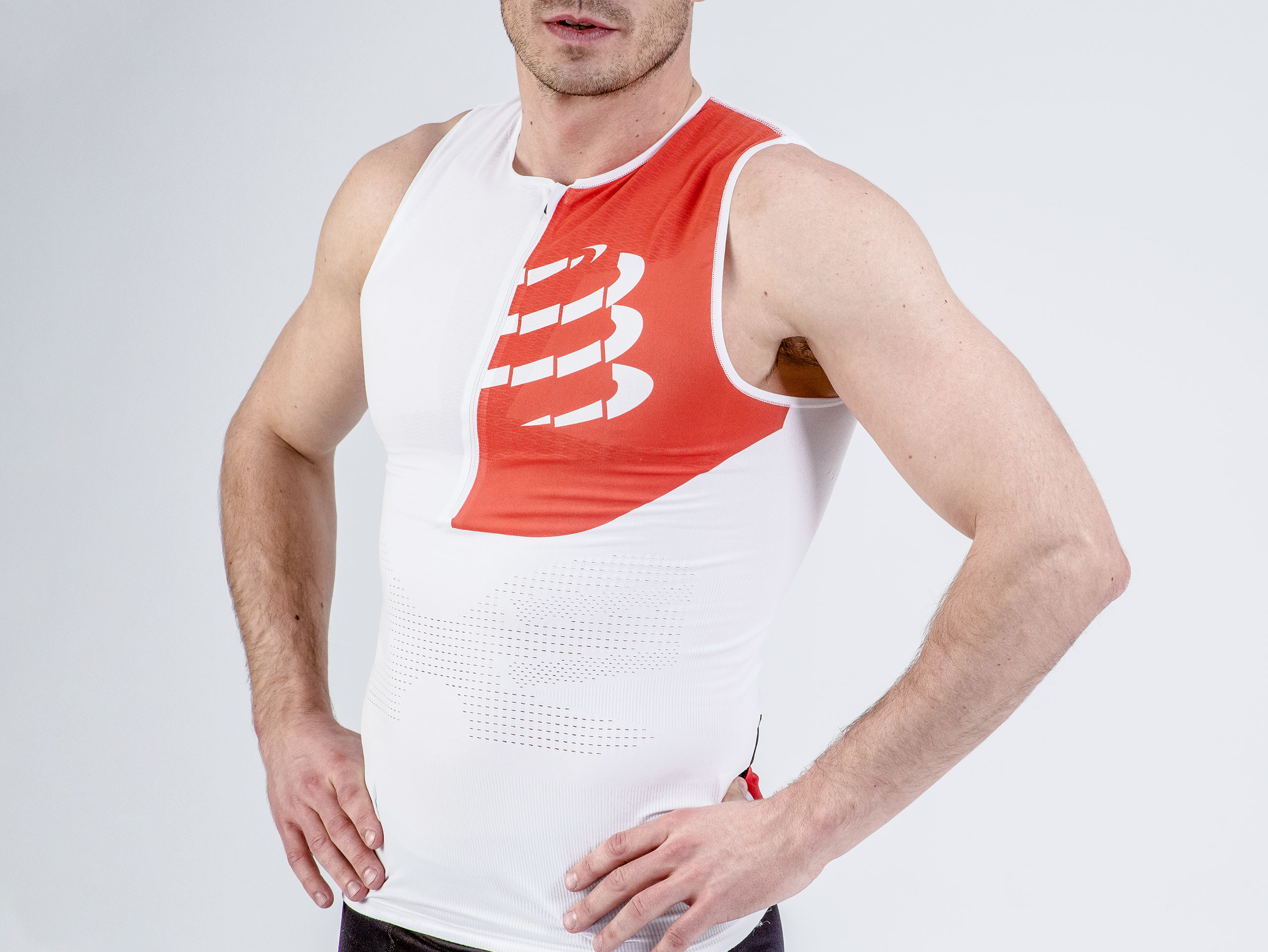 Triathlon Postural Tank Top weiß