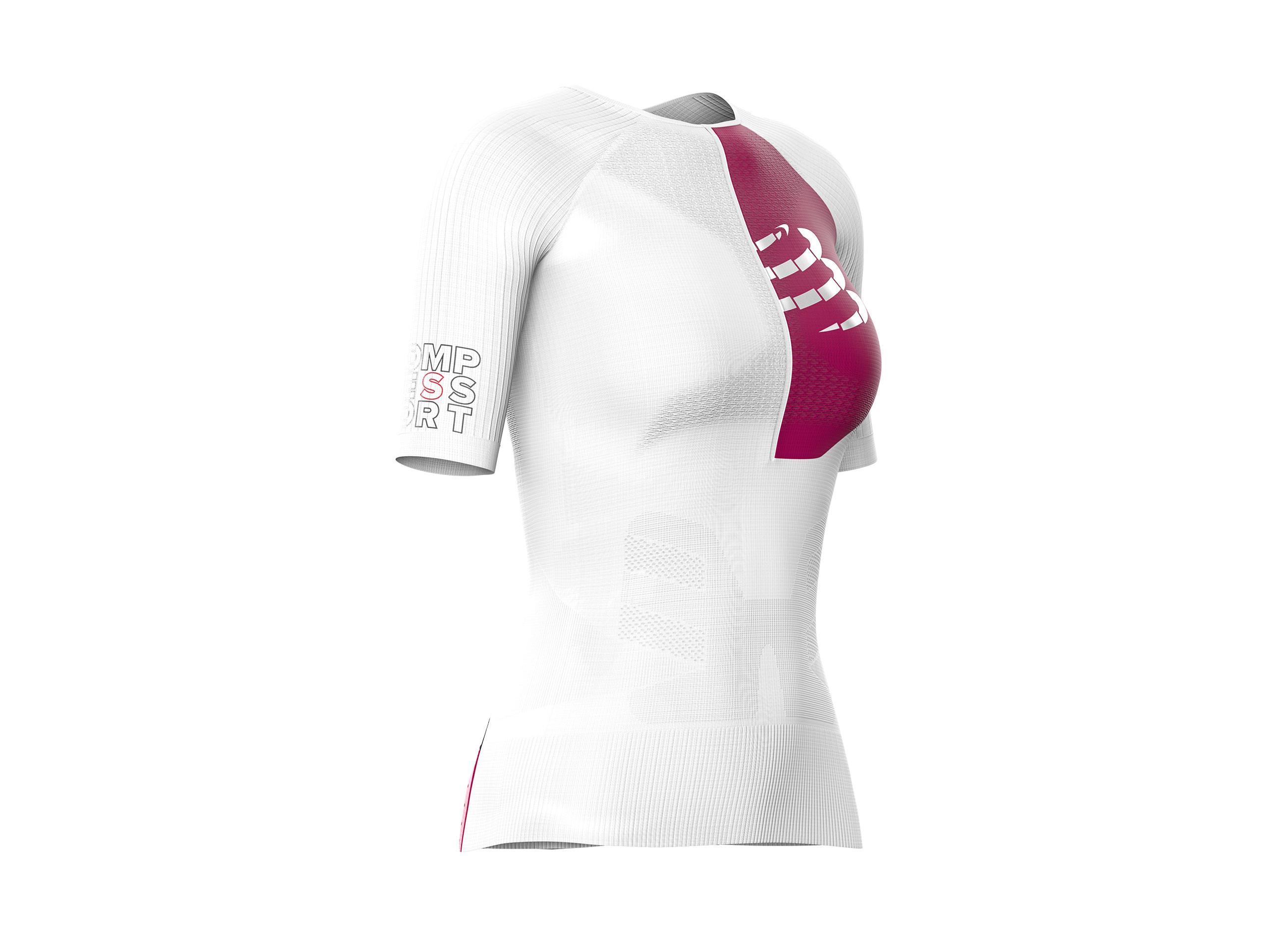 Maglia posturale da triathlon Aero SS W bianca