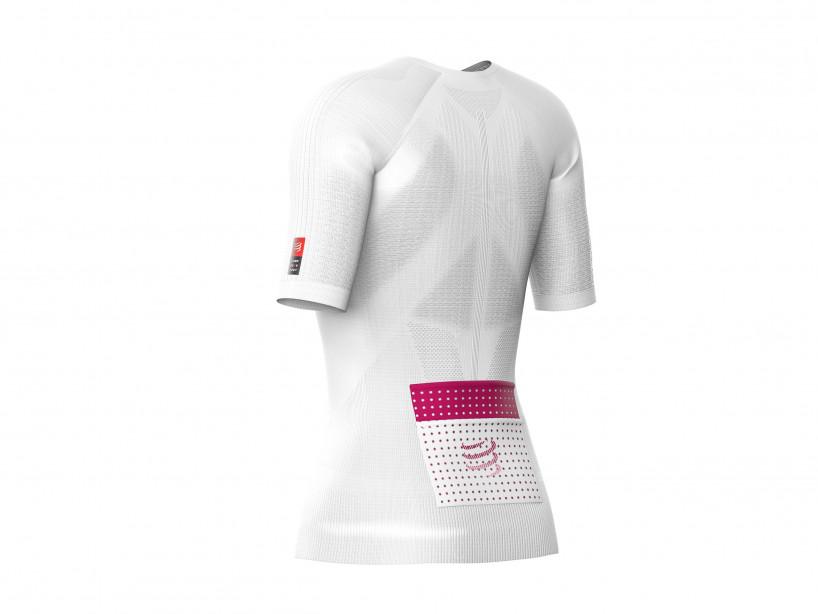 Camiseta MC postural de trail running M blanca