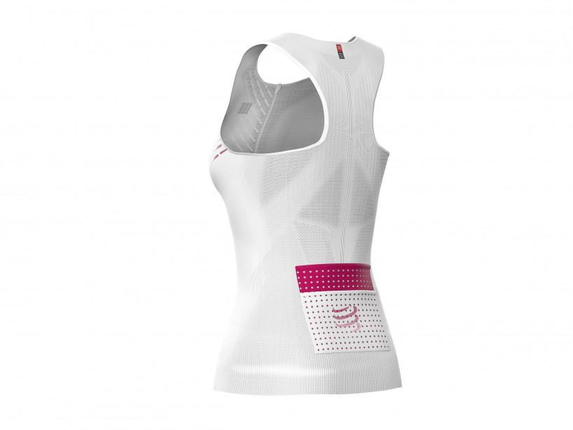 Camiseta sin mangas postural de trail running M blanca