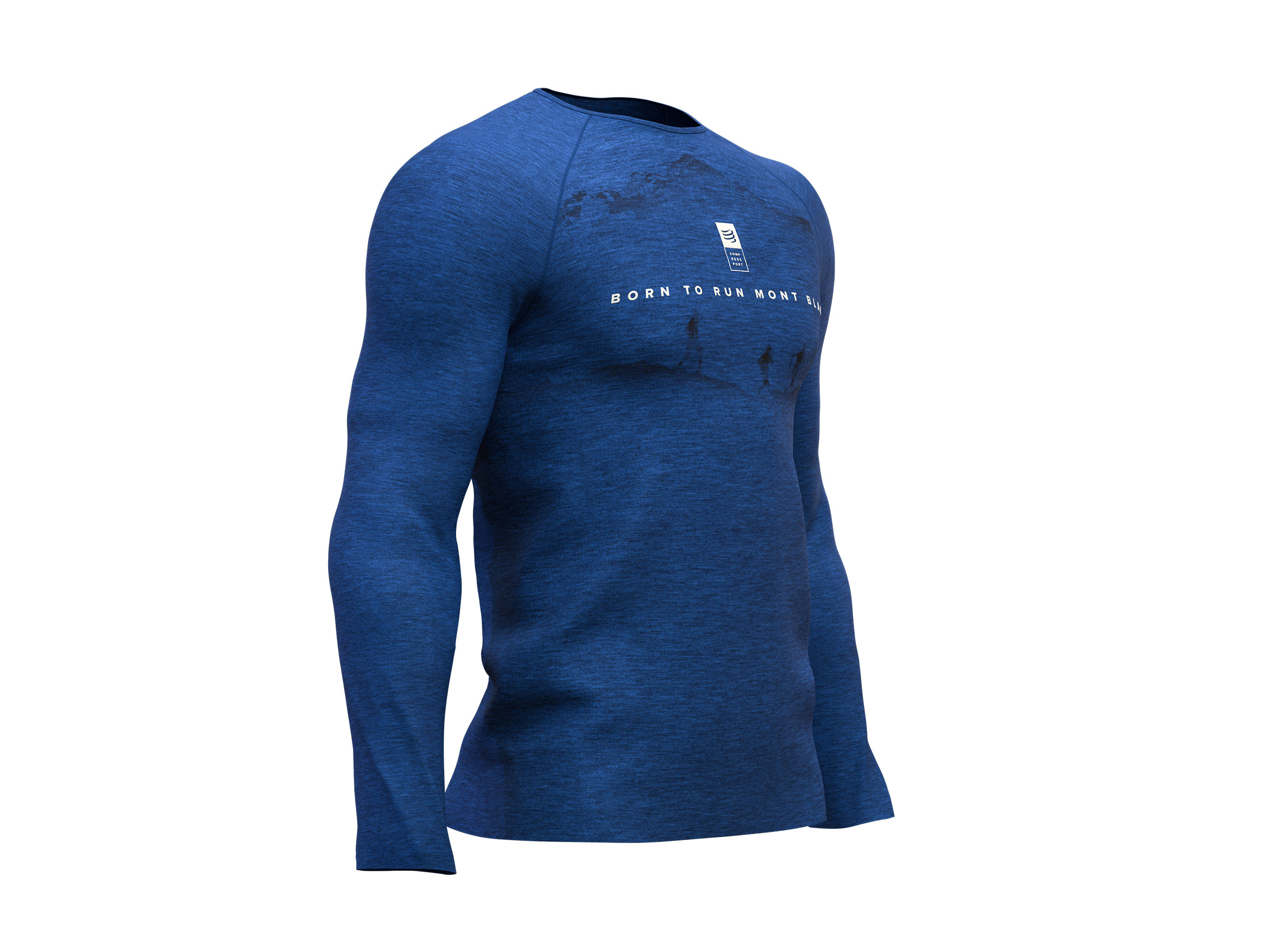 Training Tshirt LS - Mont Blanc 2019 BLUE