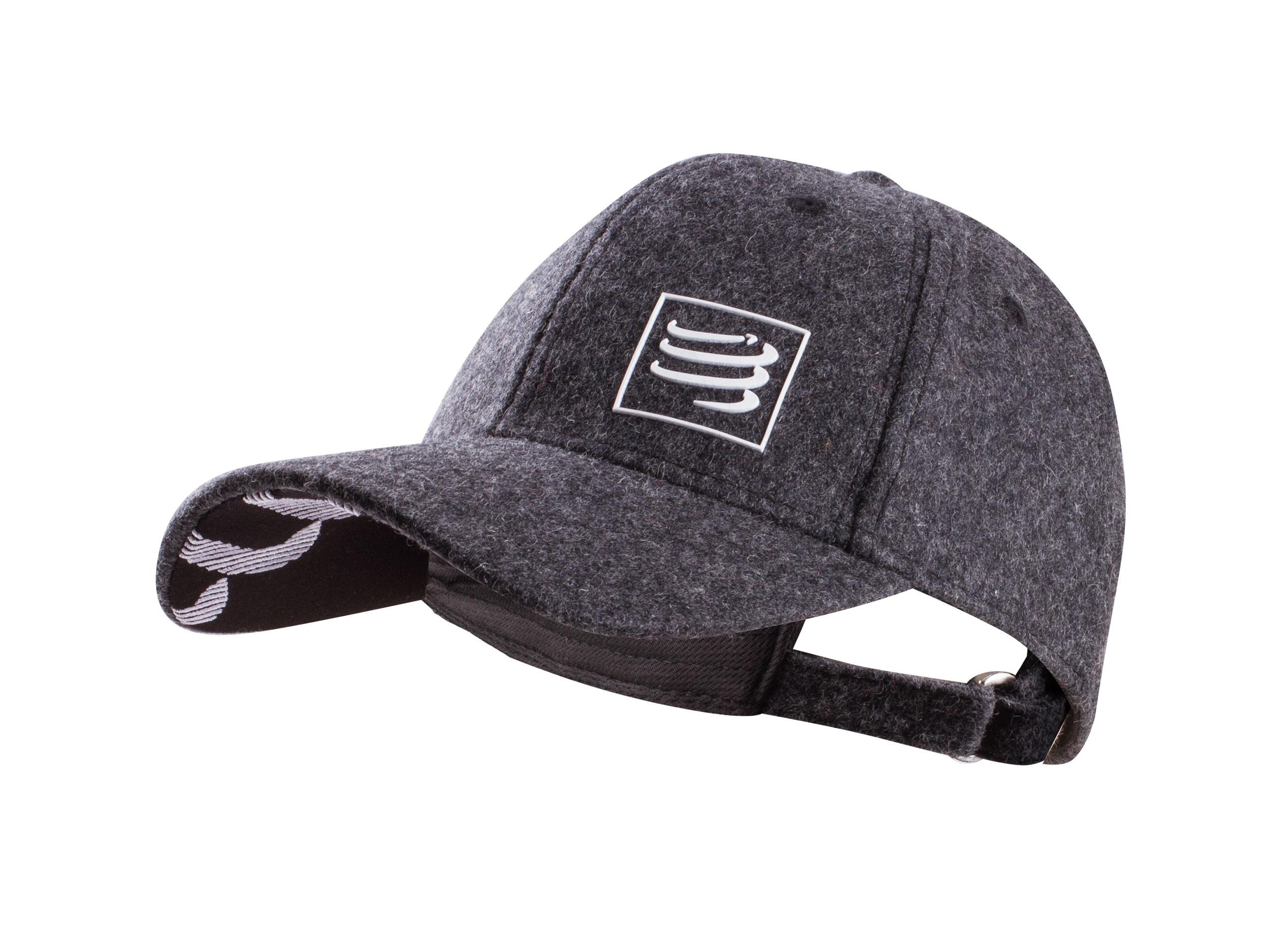 Gorra de lana gris jaspeado