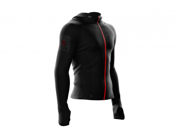 Sudadera 3D Thermo Seamless Woodpulp Zip negra