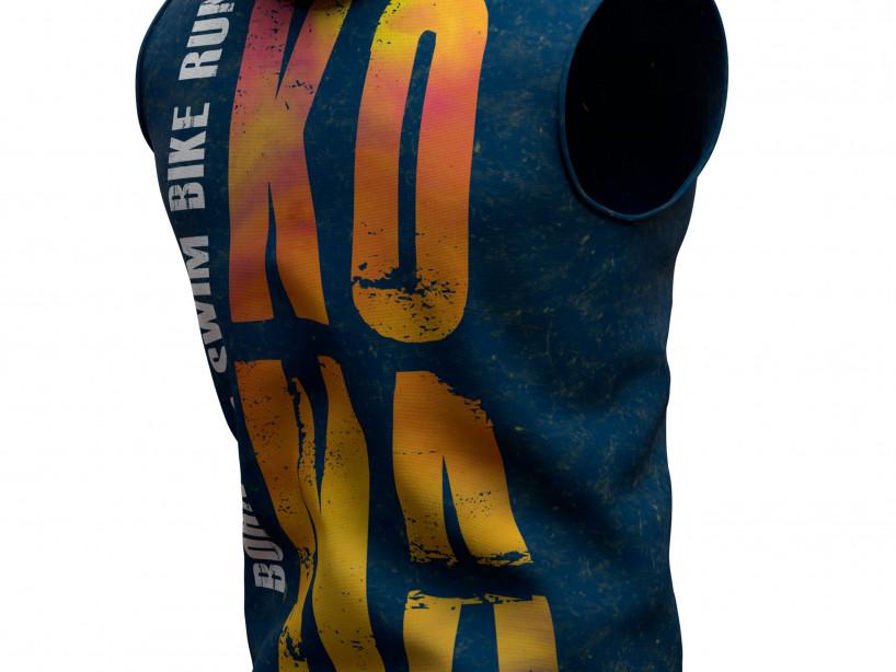 Felpa con cappuccio termica con zip senza cuciture senza maniche 3D - Kona 2019