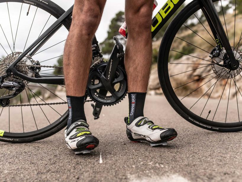 Calze da gara professionali v3.0 Bike - Nere/Giallo acido