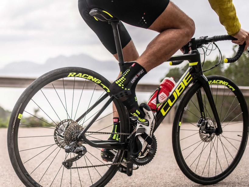 Calcetines Pro Racing v3.0 Bike negro/amarillo ácido