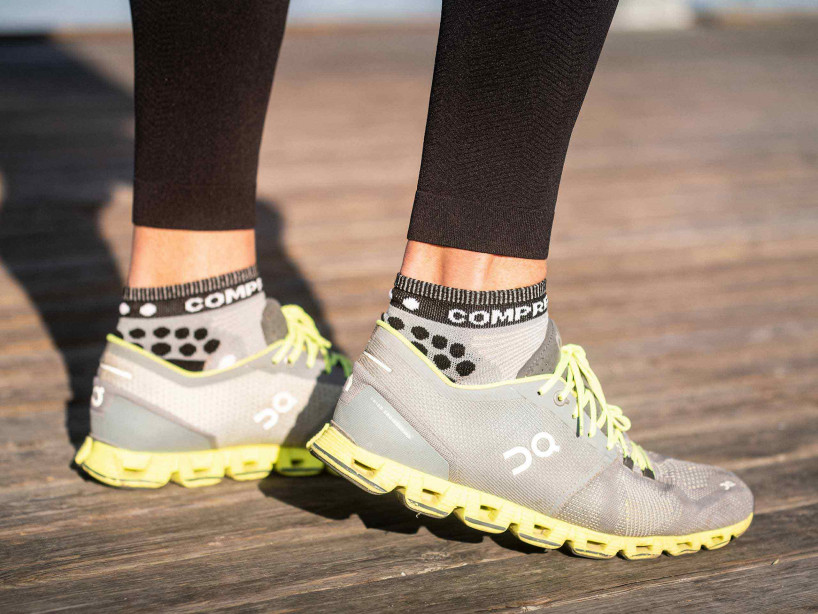 Pro Racing Socks v3.0 Run Low gris mélange