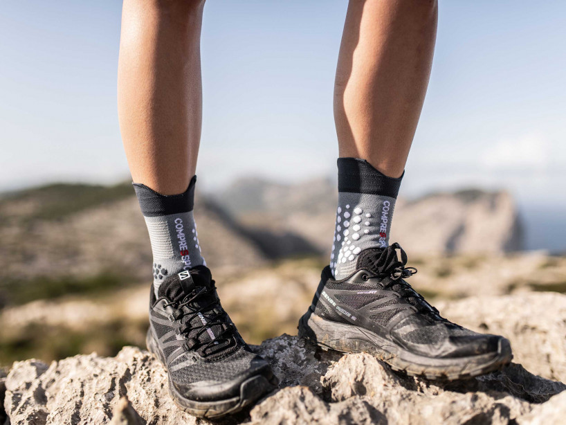 Pro Racing Socks v3.0 Trail gris mélange