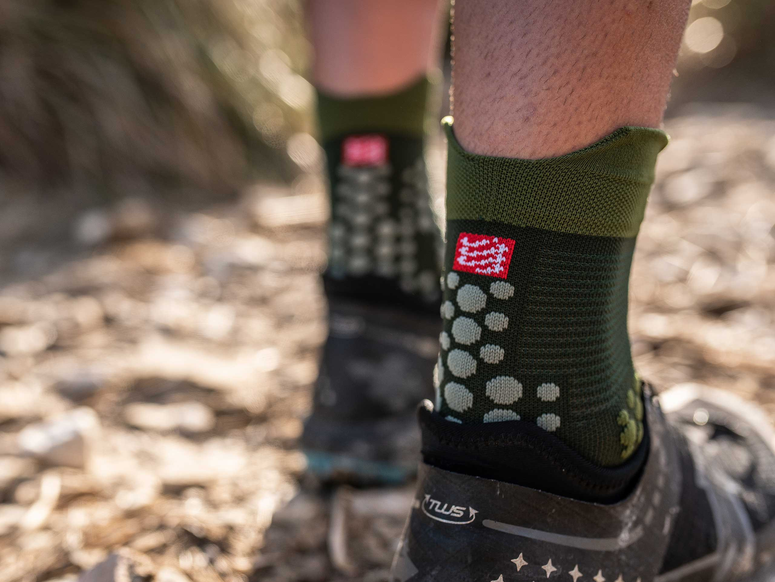 Calcetines Pro Racing v3.0 Trail verdes