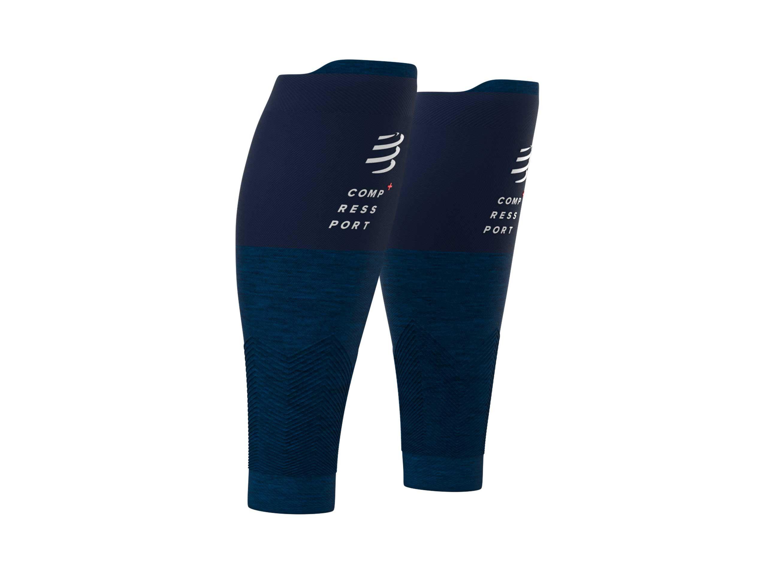 Pantorrilleras R2v2 azul jaspeado