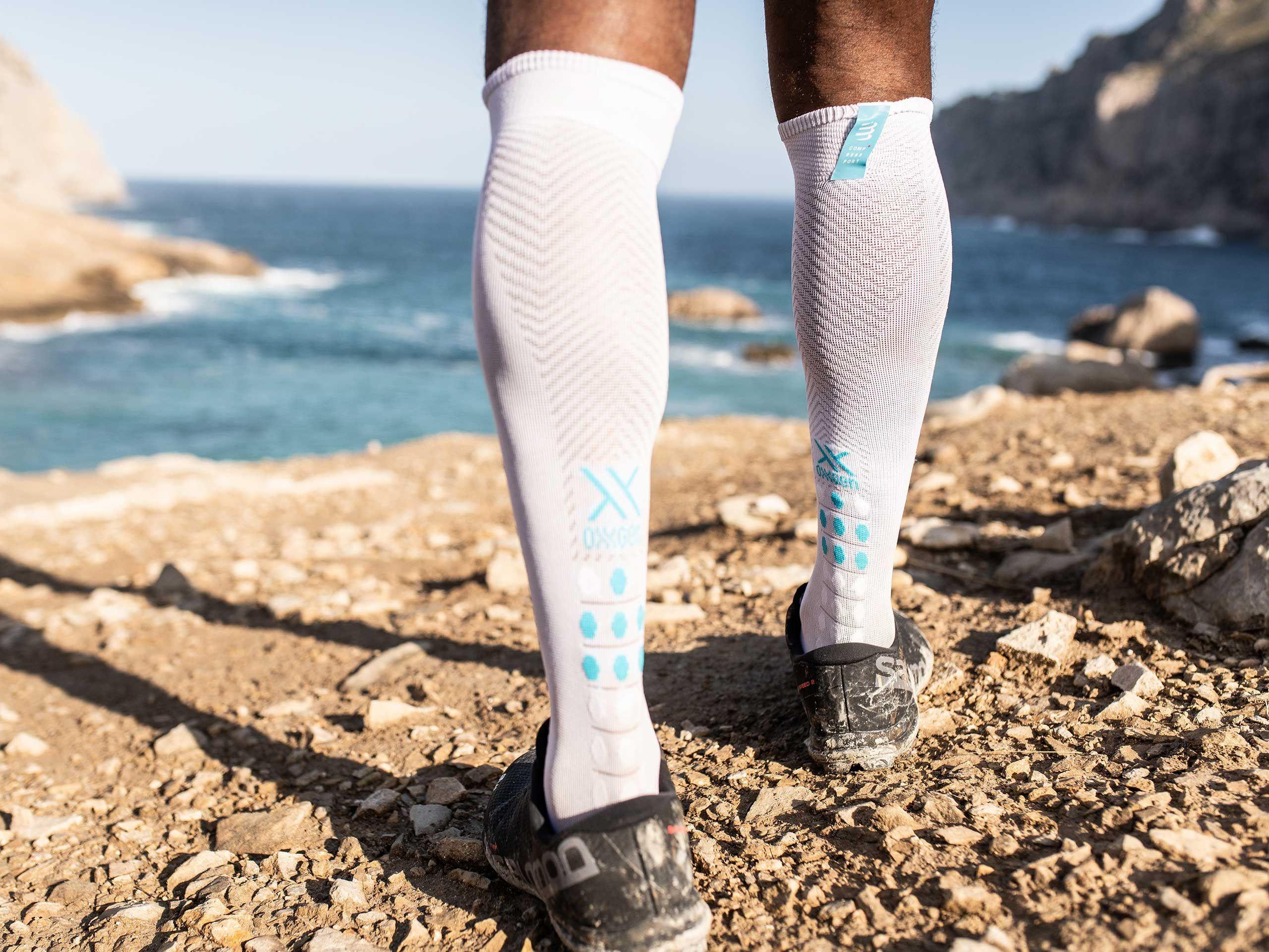 Full Socks Race Oxygen blanc
