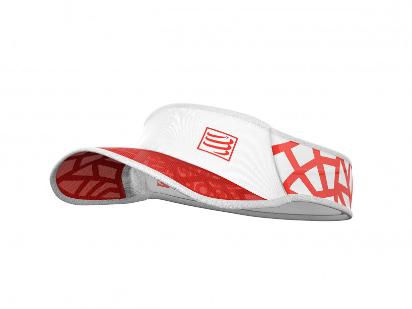 Visera Spiderweb Ultralight rojo/blanco