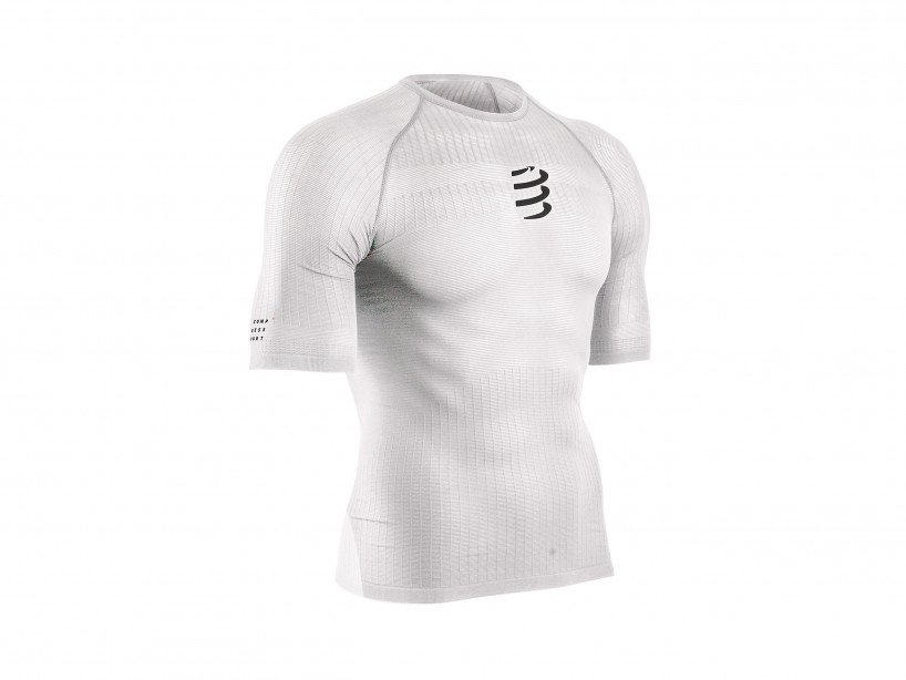 Weisses 3D-Thermo-Kurzarmshirt mit 50g