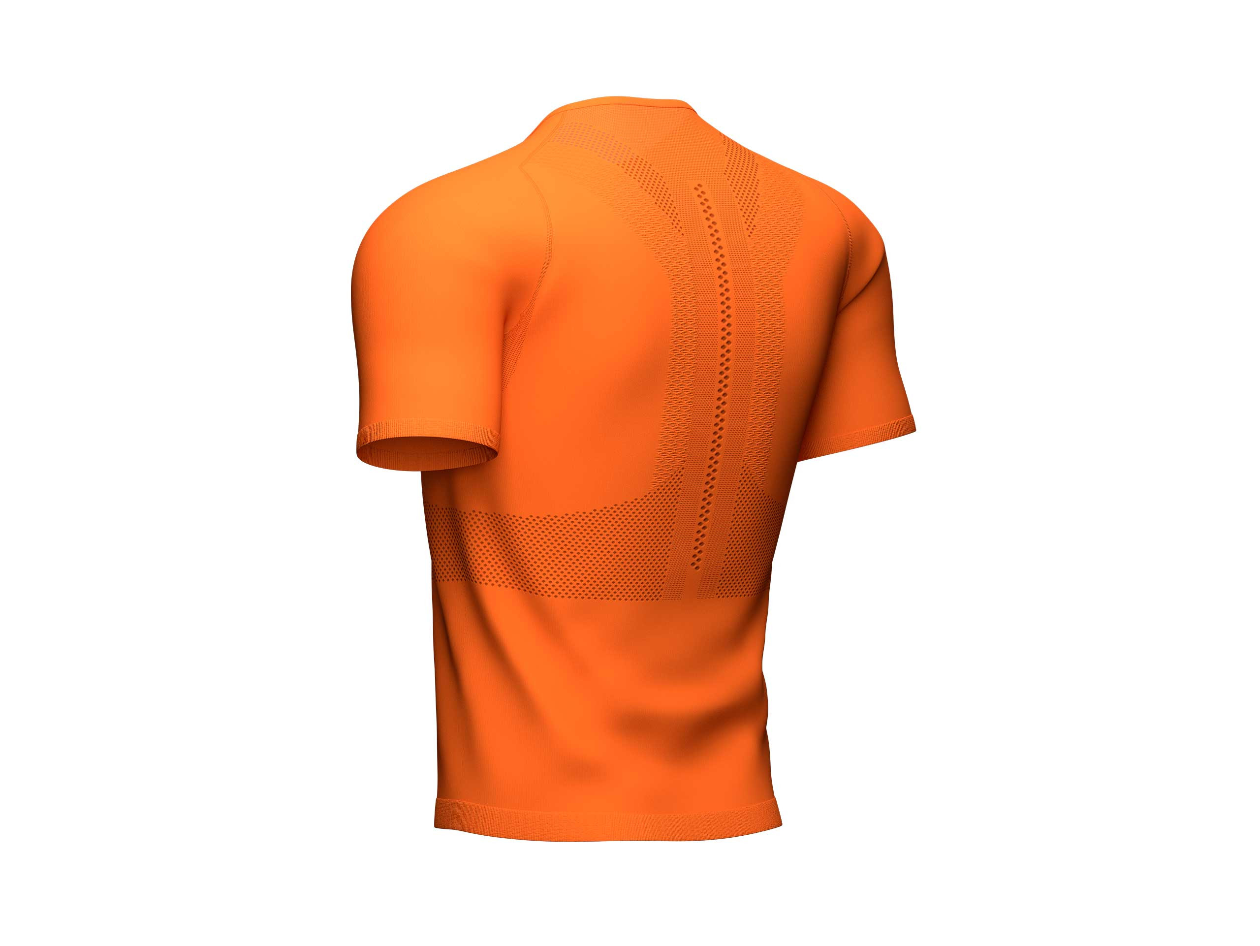 Camiseta Trail Half-Zip Fitted MC cúrcuma