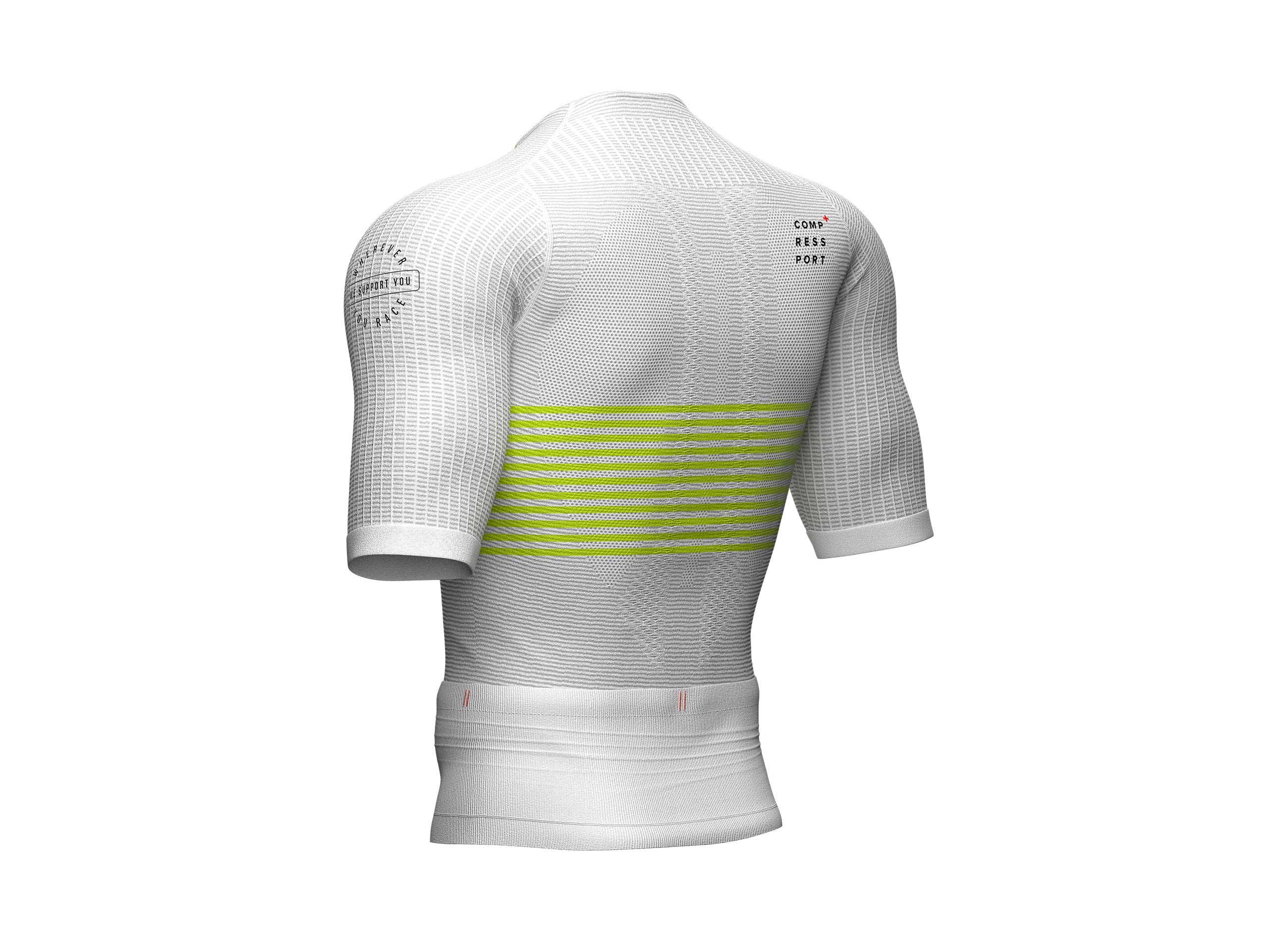 Top posturale SS da triathlon bianco