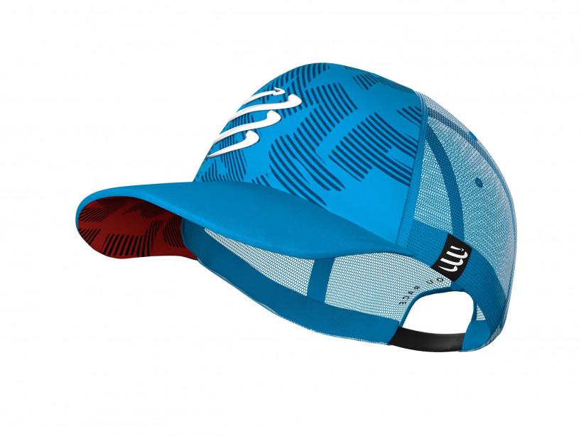 Gorra con visera plana azul claro