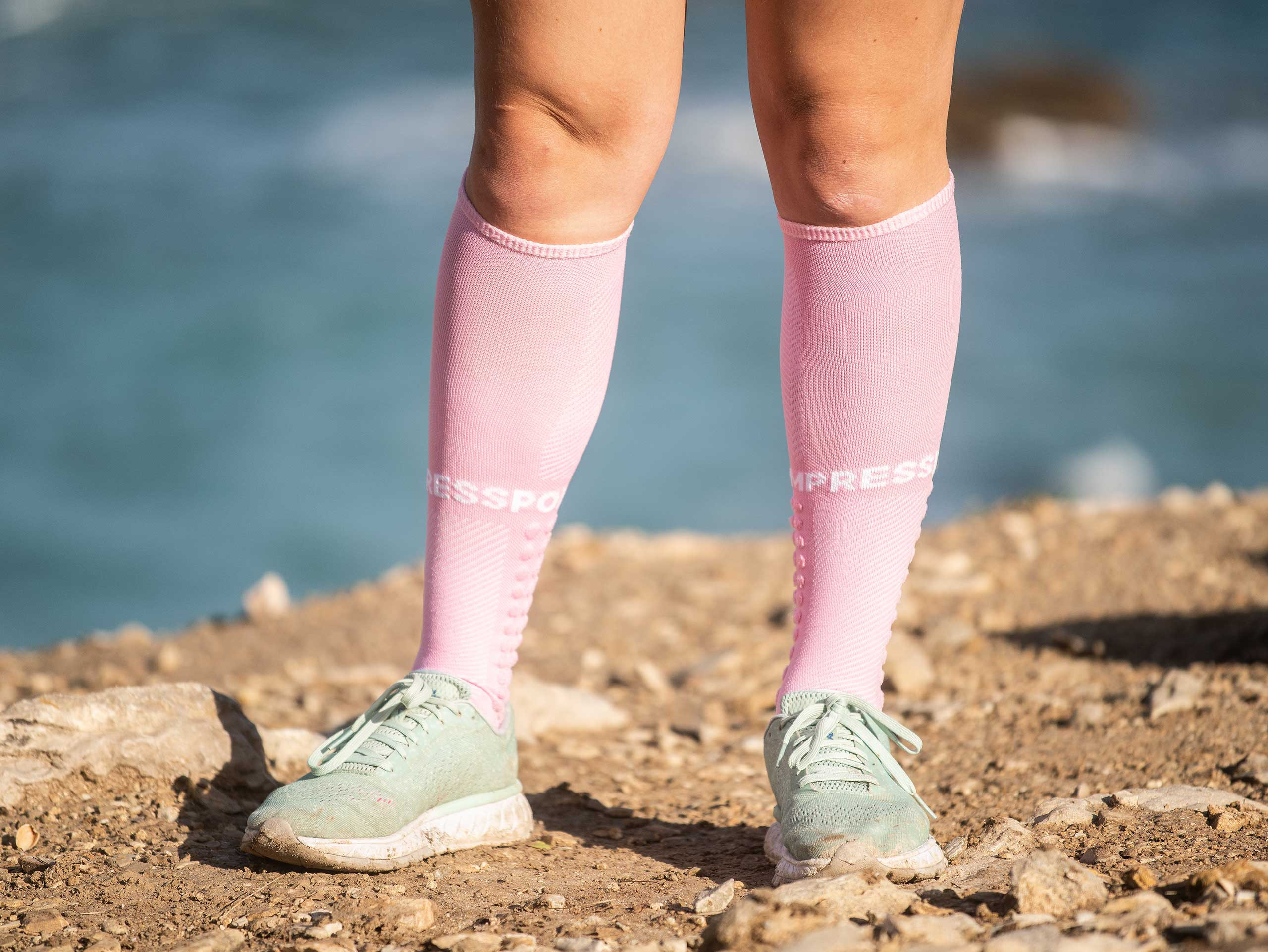 Calze alte da corsa rosa